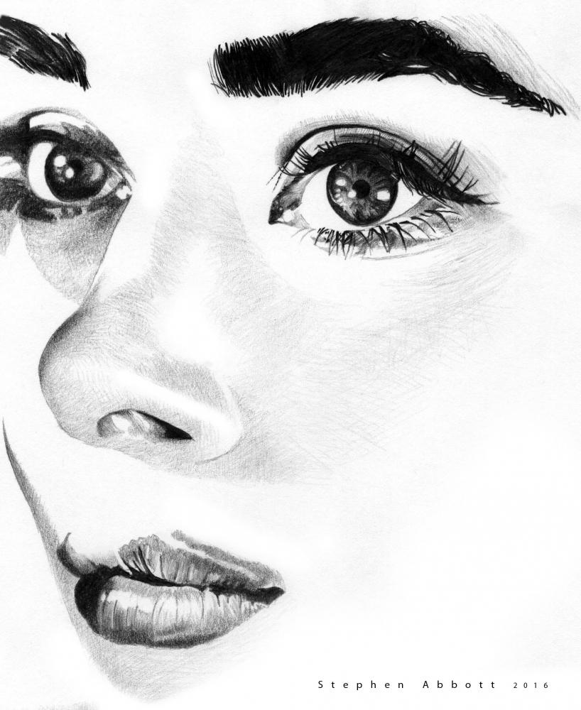 Audrey Hepburn by StephenAbbott